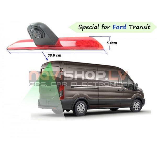 Ford transit atpakaļskata kamera ar bremžu gaismu  RC-6013 (Sharp CCD Camera, mirror, 4PIN)