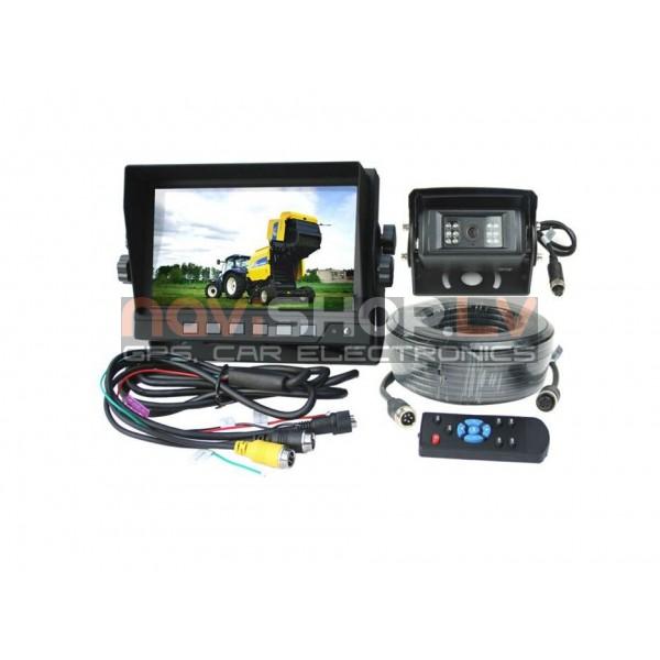Kravas un autobusu atpakaļskata sistēma RI-7106S ar automātisku kameras širmīti