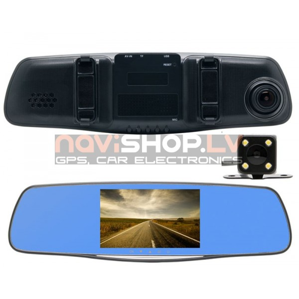 DVR T508A DUAL EasyRide Spogulis -2 kameras