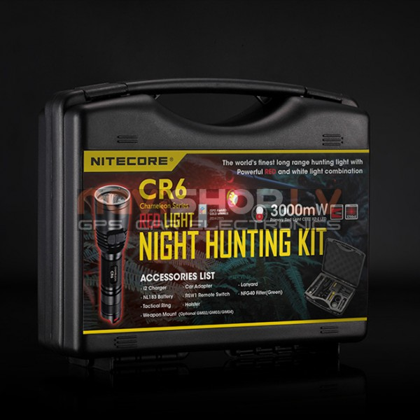 Nitecore CR6 Hunting Kit (CREE XP-G2 led, 440 Lumens) medniekiem