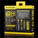 Nitecore Digicharger D4 digitālais universāls lādētājs (Li-ion. Ni-Mh, Ni-Cd, 4 kanāli)