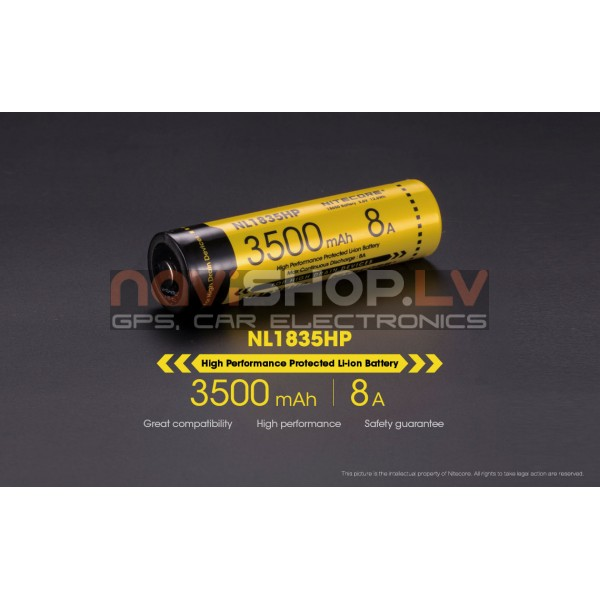 NL1835HP 3500 mAh 18650 battery