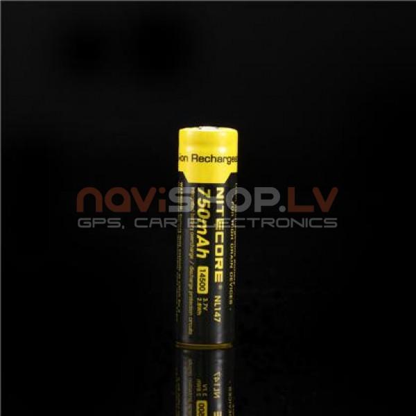 Nitecore NL147 14500 Li-ion lādējams akumulators 750mAh 3.7V, ar aizsardzības čipu