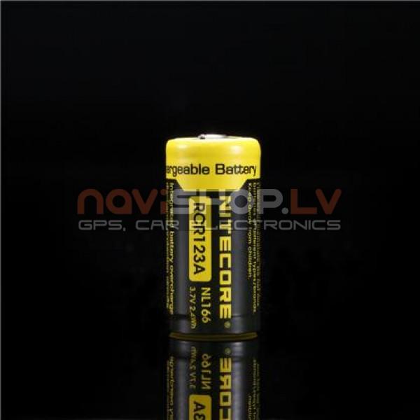 Nitecore NL166 RCR123A Li-ion lādējams akumulators 650 mah, 3.7V