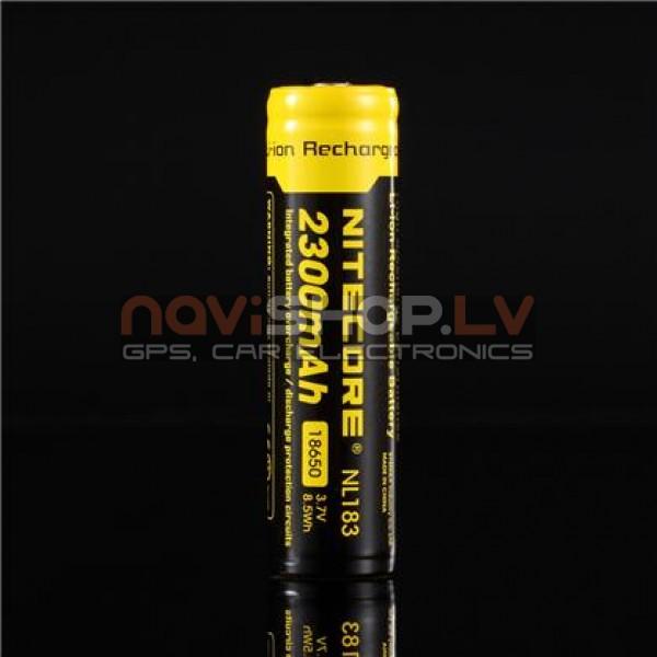Nitecore 18650 Li-ion lādējams akumulators (2300mAh) 3.7V NL183, ar aizsardzības čipu