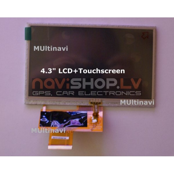 """4.3"""" LCD TFT rezerves ekrāns+touch"""