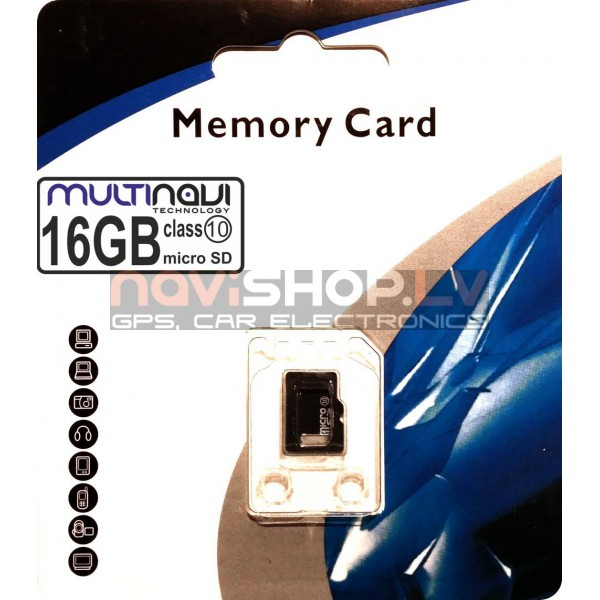 16Gb class10  micro SDHC Multinavi atmiņas karte
