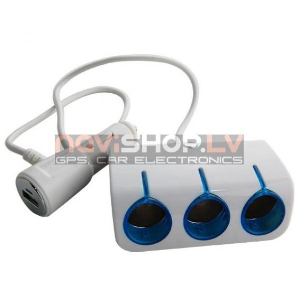 Piepīpētāja ligzdas sadalītājs adapteris DL-EL3103 (DC 12/24V Output: DC5 V 1A, 2 port)