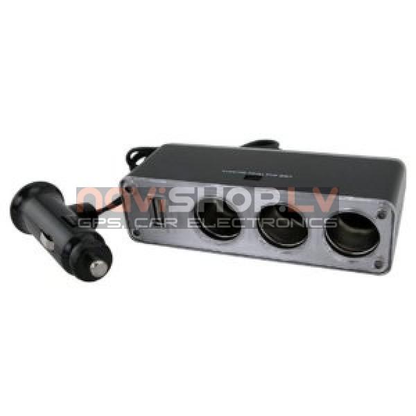 Piepīpētāja ligzdas sadalītājs adapteris DL-JH0319 (DC 12/24V Output: DC5 V 500ma,1xUSB, 3 port)