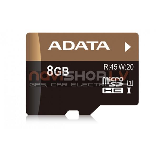 ADATA 8Gb UHS-I Premier Pro microSDHC atmiņas karte + adapteris