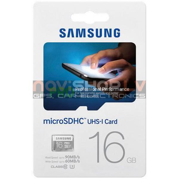 SAMSUNG MicroSD PRO 16GB Class10 R90/W60