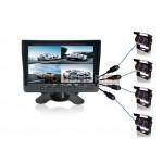 "7.0"" Quad monitors smagajiem un atobusiem RI-701S-4"