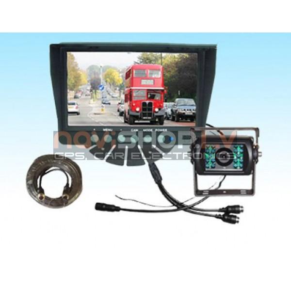 Kravas un autobusu atpakaļskata sistēma RI-701S2, audio ieeja, 2 kanālu video