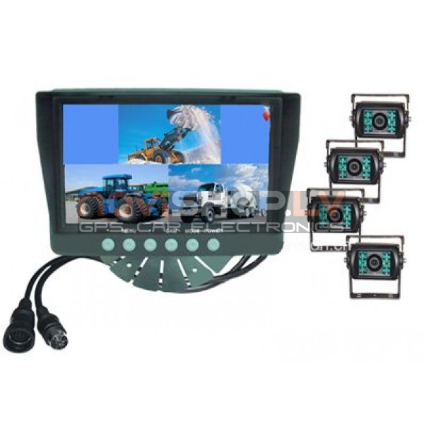 "Bus-Tuck QUAD  rearview system RI-7Q2-4 (7.0"" LCD,4channel video input, 4 CCD cameras)"