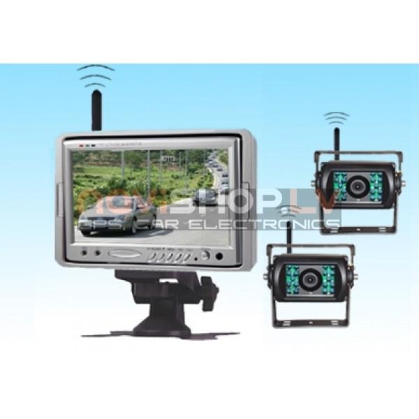 Bezvadu Kravas un autobusu atpakaļskata sistēma RW-701W2-2 (2 wireless kameras)