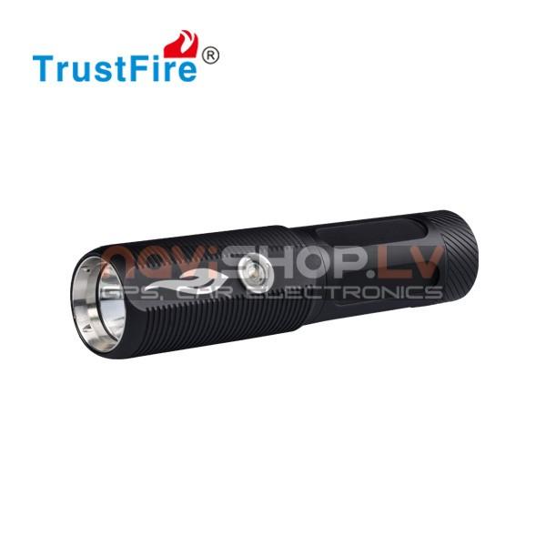 Trustfire A10 LED lukturis -power bank komplekts ar maciņu un akumulatoru ( CREE XM-L2,500 lumens)