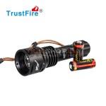 Trustfire DF-003 LED zemūdens lukturis (3*CREE XM-L T6,3000 lumens, IPX8) ar lādētāju un akumulatoru