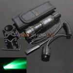 Ultrafire W501 lukturis medniekiem (zaļš CREE XM-L T6,200 lumens,ieroča stiprinājums, papildus slēdzis)