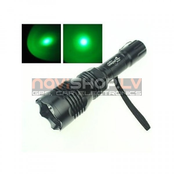 Ultrafire HS-802 zaļš LED lukturis medniekiem (CREE Q5 LED,600 lumens)