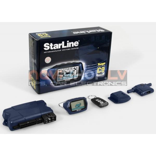 Starline C9 dialog autosignalizācija ar dzinēja darbības kontroli