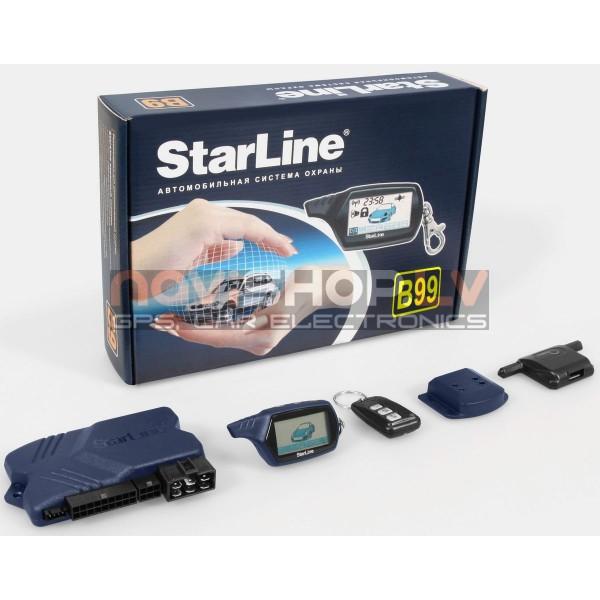 Starline B99 autosignalizācija ar dzinēja darbības kontroli