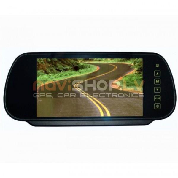 "7"" auto LCD monitors-spogulis, Touch key un tālvadīnas pults M705"