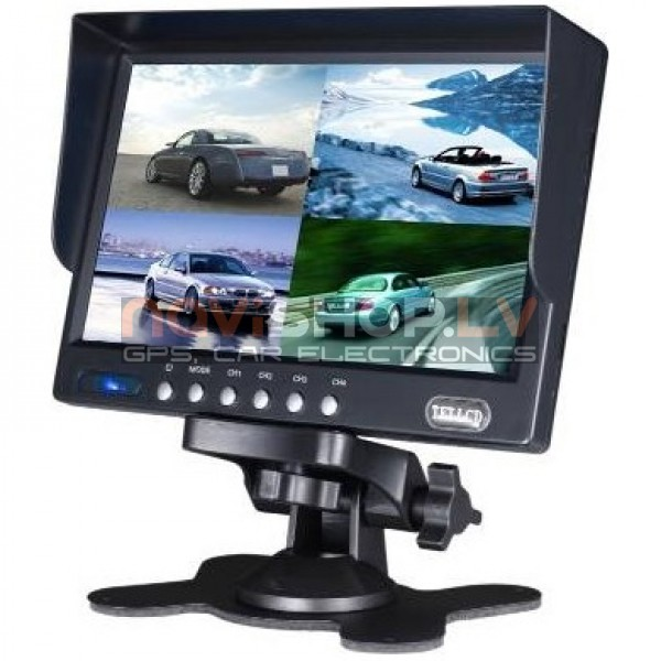 "7"" TFT LCD QUAD monitors ar saulessargu M715Q"