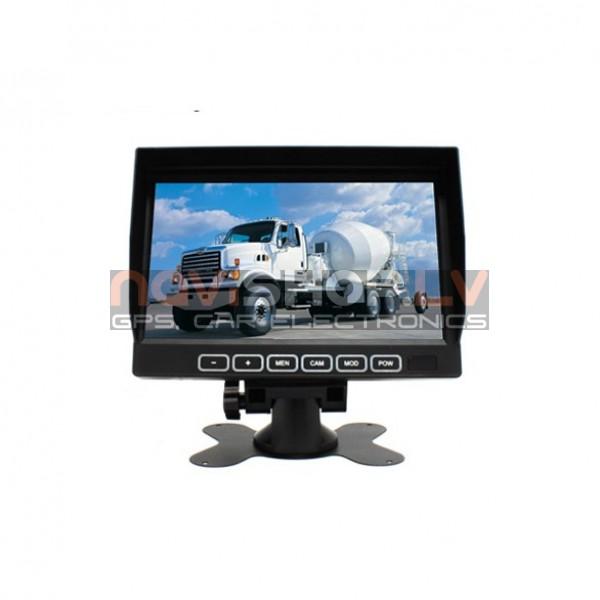 4 kanālu QUAD monitors M790TQ , 12-32V, atpakaļskata sistēmai