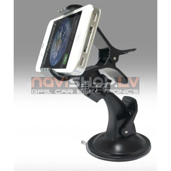 Universāls telefona turētājs 0-100mm  H-025JZ ar piesūcekni (Samsung, Nokia, iPhone, HTC, LG, visi)