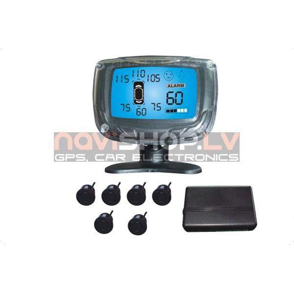 Parkošanās sistēma Parkmaster CRS3500-8 sensori un LCD ekrāns