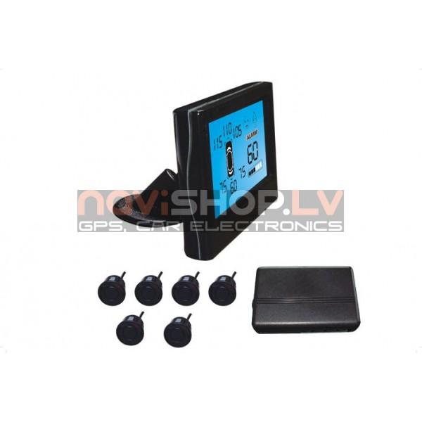 Parkošanās sistēma Parkmaster CRS7500-6 sensori un LCD ekrāns