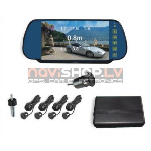 """Video Parkošanās sistēma Parkmaster CRS9701 un spogulis ar 7.0"""" LCD ekrānu"""