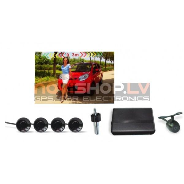 Jaun dizaina Parkošanās sistēma Parkmaster CRS 8500 V3 (video izeja kamerai un monitoram)