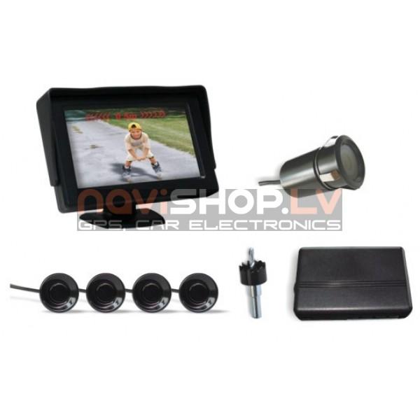 Parkmaster video parkošanās sistēma CRS 9436 (videokamera, 4 sensori, monitors)
