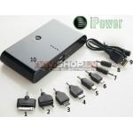 iPower 20000 power bank mobilais lādētājs 20000 mAh, papildus baterija telefonam, ipad, gps