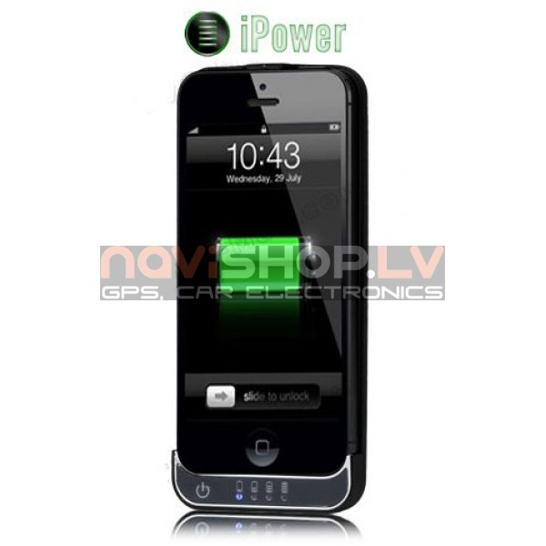 Power bank-case mobilais akumulators priekš iPhone 5/5s 2200 mAh