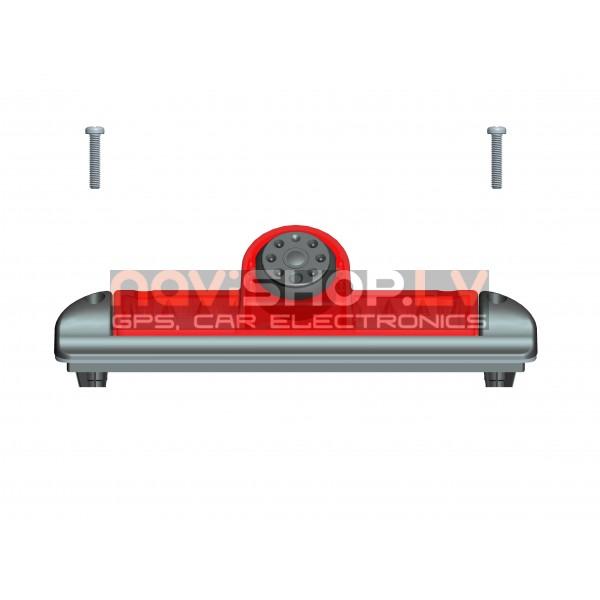 Fiat Ducato atpakaļskata kamera ar bremžu signālu  RC-6016-2 (Sharp CCD Camera, mirror, 4PIN)