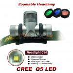 Truefire C10 LED galvas lukturis komplekts (CREE Q5 LED, max 300 lumens)