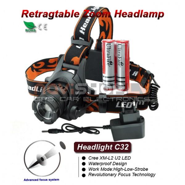 Truefire C32 LED galvas lukturis (CREE XML2 U2 LED, max 1200 lumens)