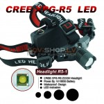 Truefire R5-1 LED galvas lukturis komplekts (CREE R5 LED, max 600 lumens)