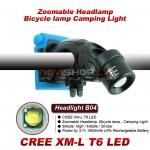 Truefire B04 universals LED galvas lukturis, velo lukturis (CREE XM-L T6 LED, max 1200 lumens)