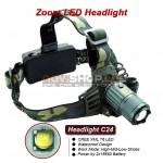 Truefire C24 LED galvas lukturis (CREE XM-L T6 LED, max 1000 lumens)