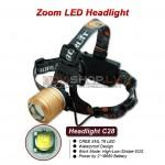Truefire C28 LED galvas lukturis (CREE XM-L T6 LED, max 1000 lumens)