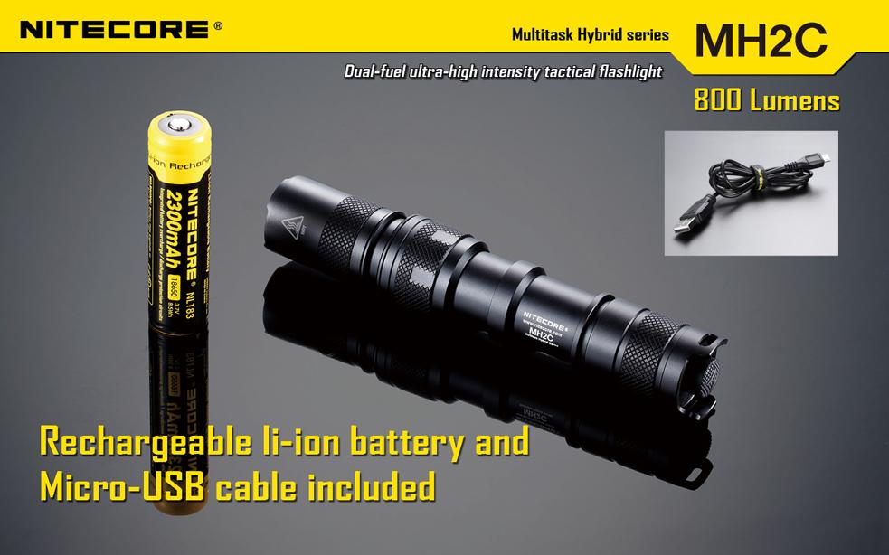Nitecore MH2C LED flashlight (CREE XM-L (U2) LED, 800 ...