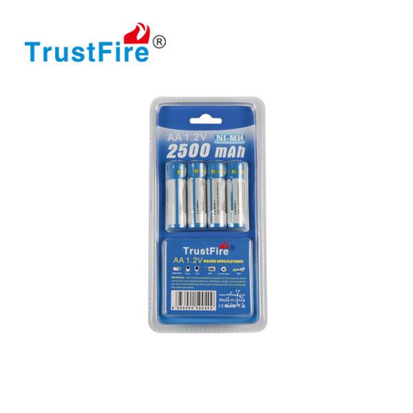 Trustfire AA 2500mah ni-mh lādējams akumulators